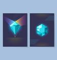 poster with diamond of blue vector image
