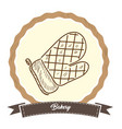 retro bakery product vector image
