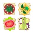 Sandwich set isolated vector image