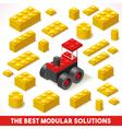 Toy Block Farm 02 Games Isometric vector image