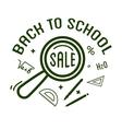 Back to School typography Designs Label vector image