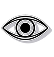 eye view sign isolated icon vector image
