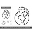 worldwide shipping line icon vector image