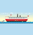seamless colorful ship background with fish vector image vector image