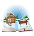 Winter book vector image