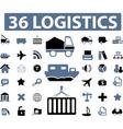 logistics signs vector image