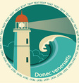Lighthouse poster label for text vector image