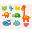 Colorful animals set for kids vector