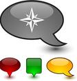 Compass speech comic icons vector image