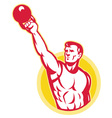 muscle male exercising kettlebell vector image vector image