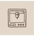 Tree D printing sketch icon vector image