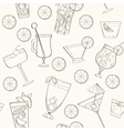 Seamless coctail pattern vector image