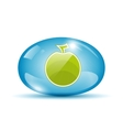 Apple icon in a sphere vector image