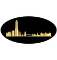 bangkok gold skyline vector image