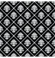 Black diagonal floral pattern vector image