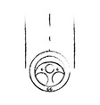 figure steering wheel car element to can drive vector image