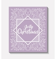 merry christmas frame vintage style vector image