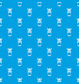 plastic cup with brushes pattern seamless blue vector image