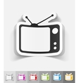 realistic design element tv set vector image