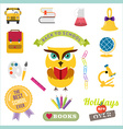 School design elements Back to school flat design vector image