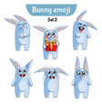 set of cute rabbit characters set 2 vector image