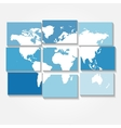tiled world map background vector image