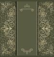 Vintage luxury card or invitation vector image