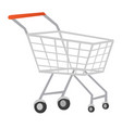 wire shopping cart cartoon vector image