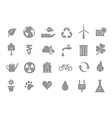 Eco gray icons set vector