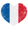 France heart retro flag vector image vector image