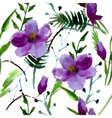 Watercolor of Magnolia Flowers vector image