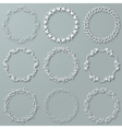 Set of white frames vector image