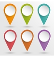 Set of pins vector image