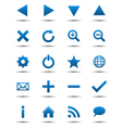 Blue Navigation Web Icons vector image vector image