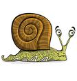 Funny cartoon snail vector image vector image
