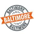 Baltimore red round grunge vintage ribbon stamp vector image