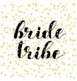bride tribe brush lettering vector image