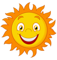 Happy cartoon sun vector image