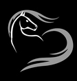 horse icon black vector image
