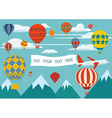 Hot air balloon festival vector image