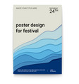 poster design with a pattern of cut paper the vector image