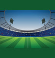 soccer football stadium background vector image