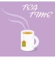 Tea Time - Cup of black tea vector image