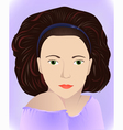 brunette in lilac vector image