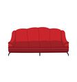 A sofa is placed vector image