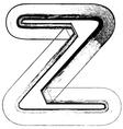Grunge Font letter z vector image vector image