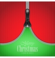 Knitted Christmas Background With Iron Zip vector image vector image
