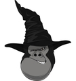 Gorilla head with hat vector image vector image