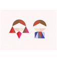 Tangram figures boy and girl on a background vector image