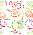 fruit seamless vector image